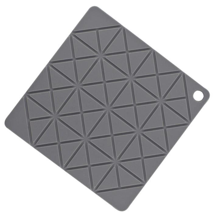 1 Napperon Pc Isolation Thermique Silicone Épaissir Tapis De Pot Anti-dérapant Carré pour Cuisine ASSIETTE - PLATEAU REPAS