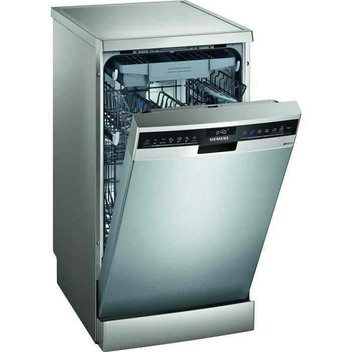 Lave-vaisselle pose libre SIEMENS SR25ZI11ME - 10 couverts - Induction - L45cm - 43dB - Inox