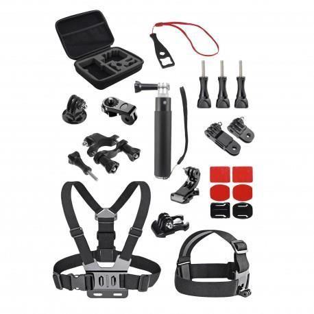 TNB SPACBOX23 - SPORT - Pack de 23 accessoires pour caméra sport