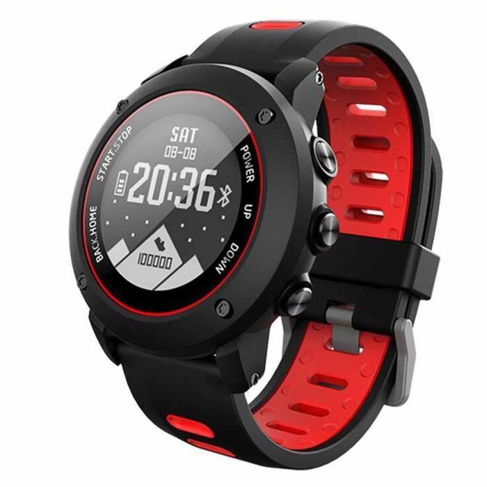 Montre intelligente 100 mètres Étanche IP68 Longue Veille Bluetooth SmartWatch Moniteur de fréquence Cardiaque GPS Sport Montre