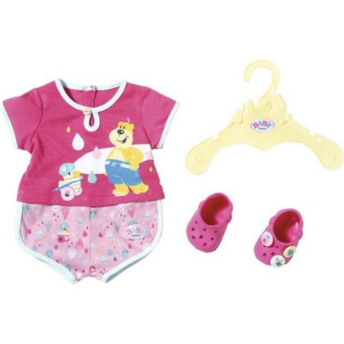 Pyjama de bain avec chaussures pour poupée BABY born de 43 cm