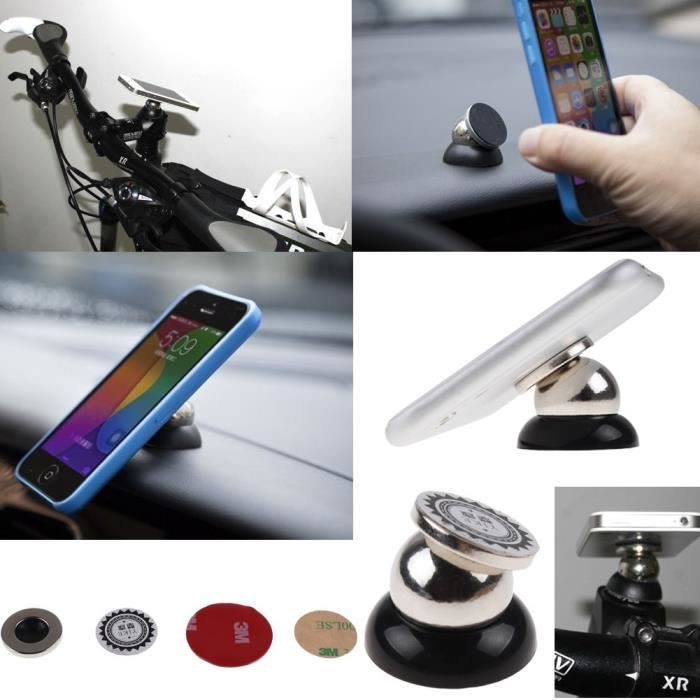 360 support universel magn tique t l phone de voiture metal ball pour pda gps smartphone achat. Black Bedroom Furniture Sets. Home Design Ideas