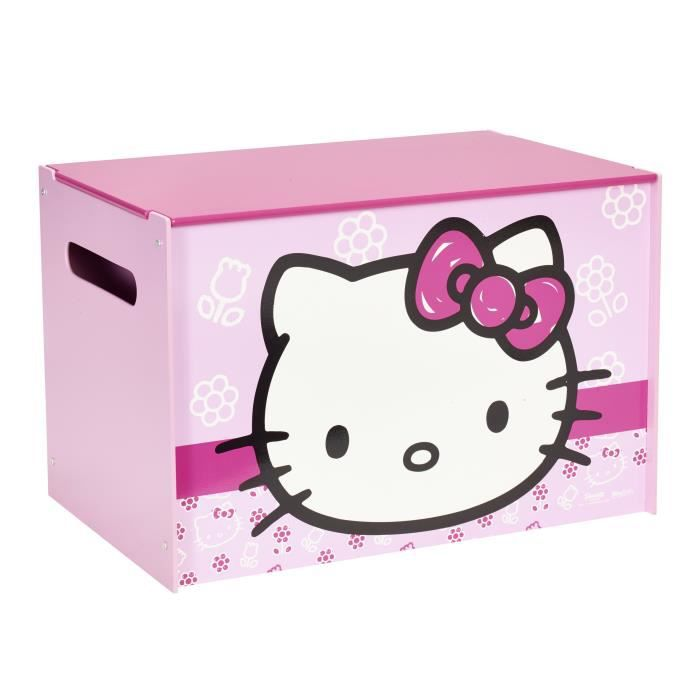 coffre a jouets hello kitty achat vente pas cher. Black Bedroom Furniture Sets. Home Design Ideas