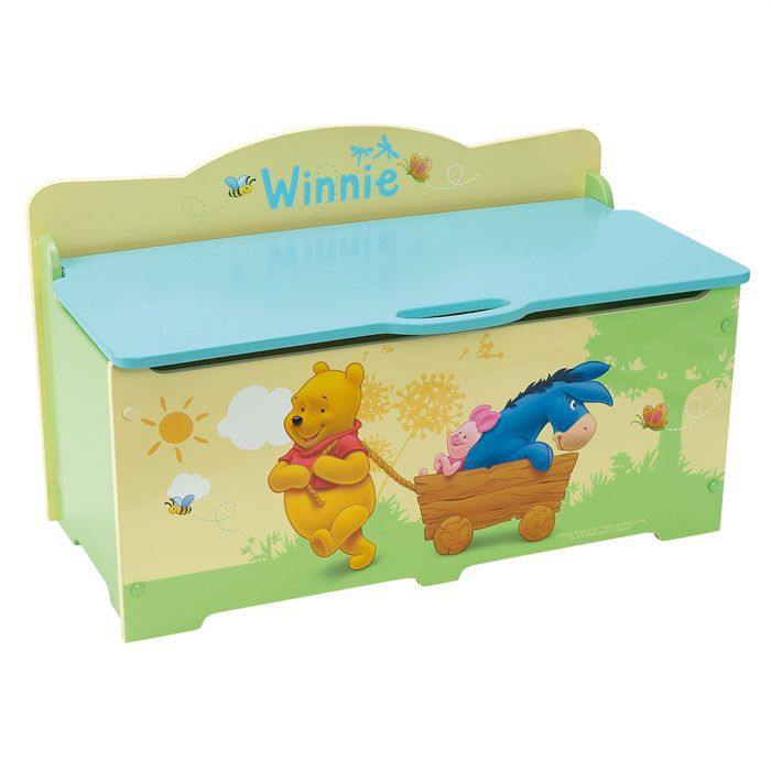 coffre jouets grand mod le winnie the pooh achat vente coffre jouets cdiscount. Black Bedroom Furniture Sets. Home Design Ideas