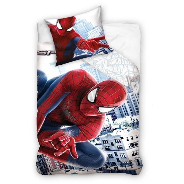 spiderman linge lit parure housse de couette taie achat vente pack linge de lit cdiscount. Black Bedroom Furniture Sets. Home Design Ideas