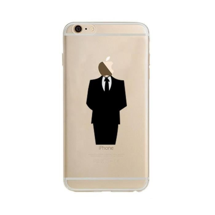 coque silicone iphone 6 6s costume fun apple homme