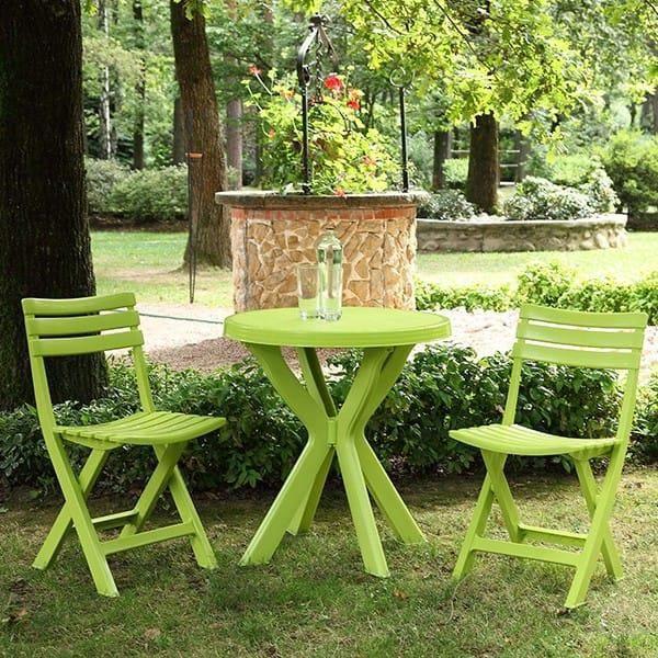 Salon de jardin plastique Vert