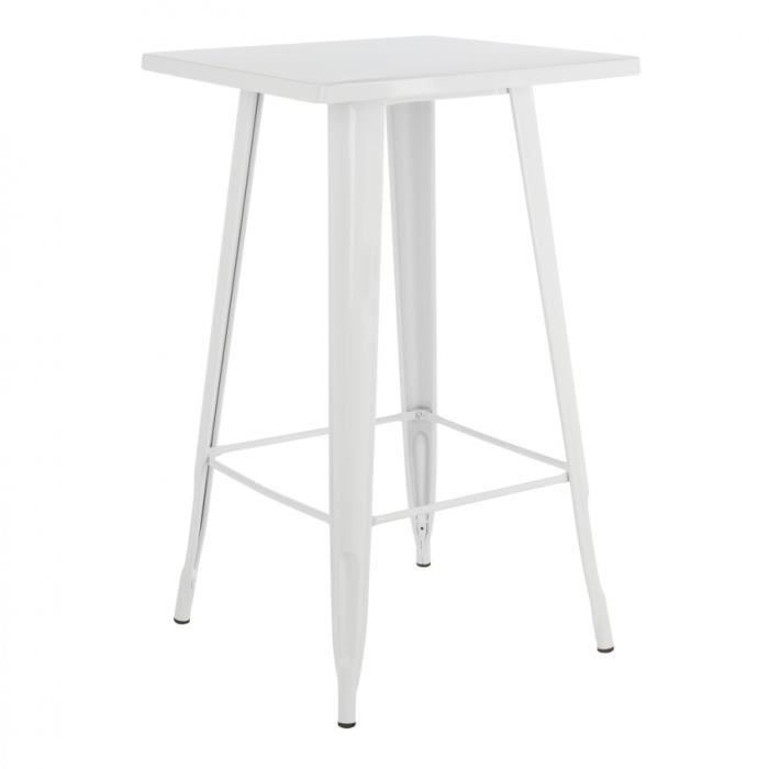 MANGE-DEBOUT Table haute LIX Blanc