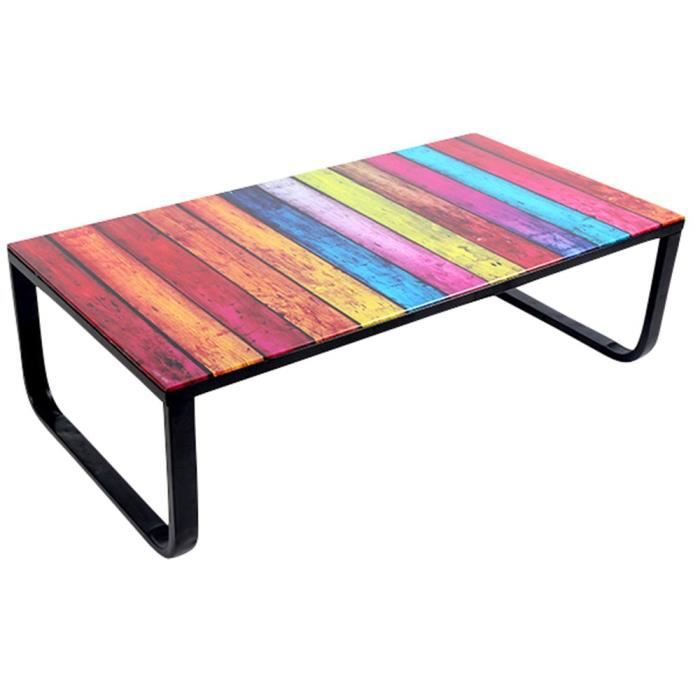 Table basse paxis multicolore achat vente table basse table basse paxis m - Table basse multicolore ...