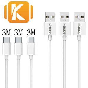 CÂBLE TÉLÉPHONE Lot de 3 - 3m/300cm/10ft - CABLE TYPE-C USB POUR S