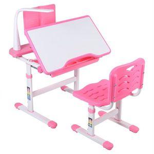 TABLE ET CHAISE Ensemble de table et chaises rose pour enfants+sup