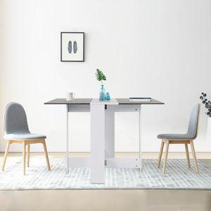 TABLE À MANGER SEULE MISS Table de Salle de Manger Table Pilable de 4 P