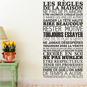 stickers regles de la maison achat vente stickers regles de la maison pas cher les soldes. Black Bedroom Furniture Sets. Home Design Ideas