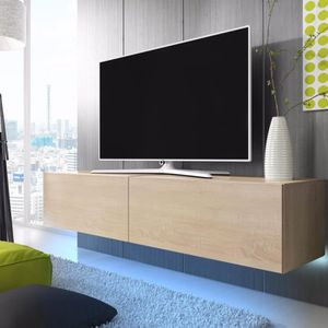 meuble tv longueur 200 cm achat vente meuble tv longueur 200 cm pas cher cdiscount. Black Bedroom Furniture Sets. Home Design Ideas