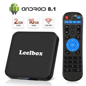 BOX MULTIMEDIA Leelbox TV Box Android 8.1【2GB+16GB】 Q2 Minis Boît