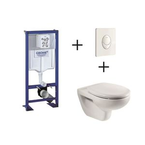 WC - TOILETTES GROHE  Pack complet WC suspendu Bâti-support 113 c