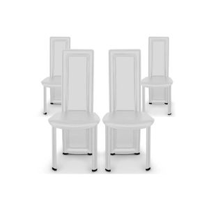 CHAISE Lot de 4 Chaises Design MIME blanche