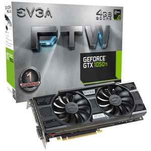 CARTE GRAPHIQUE INTERNE Carte graphique EVGA GeForce GTX 1050 Ti FTW Gamin