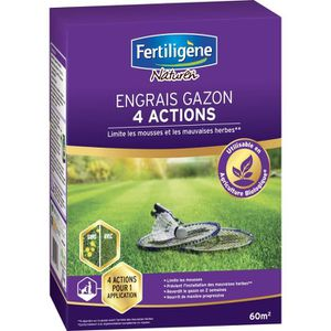 ENGRAIS FERTILIGENE Engrais Gazon 4 Actions - 2,45 kg