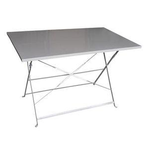 Table rectangulaire pliante Camargue - 4 Places - Taupe ...