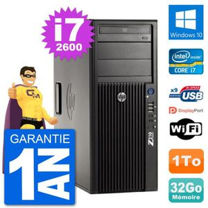 ORDI BUREAU RECONDITIONNÉ PC Tour HP Z210 Intel Core i7-2600 RAM 32Go Disque
