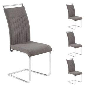 CHAISE Lot de 4 chaises de salle à manger ou cuisine ERIC