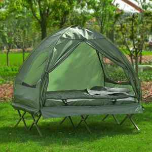 LIT DE CAMP SoBuy® OGS32-L-GR 4-in-1! 2 Places Lit de camp pli