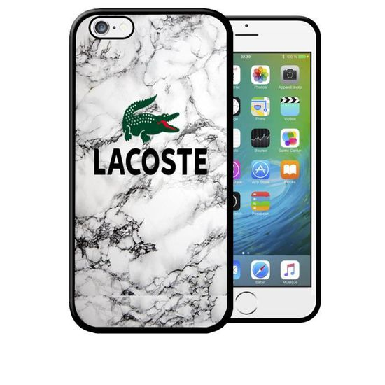 coque iphone 7 7s lacoste effet marbre blanc luxe