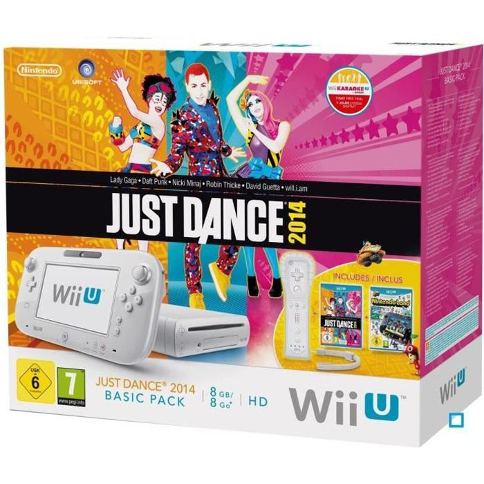 CONSOLE WII U Wii U Pack Basic Just Dance 2014+ Nintendo Land