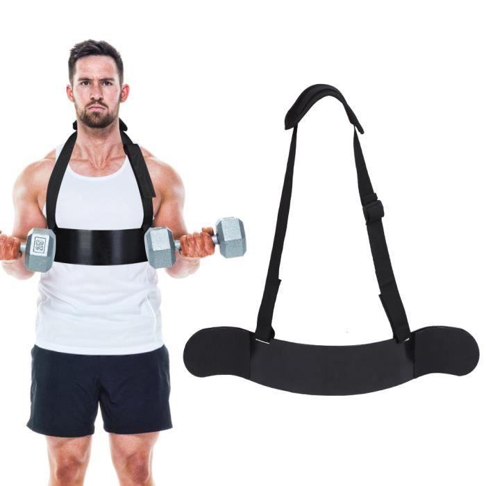 Bras robuste Blaster Biceps Curl Support en alliage d'aluminium de calibre épais avec sangle réglable Bic-COL