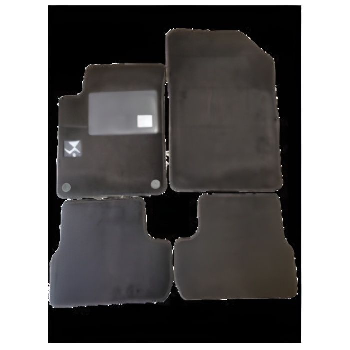 Kit 4 Tapis de sol Auto pour CITROEN DS3 de 2010-2016, avec sigle DS3, moquette noire et clips, Neuf.