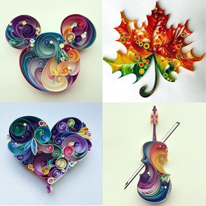 19pcs Outils de Paperolles Quilling Papier DIY Art du Papier Loisirs Créatifs (Couleurs Aléatoires)-LAT