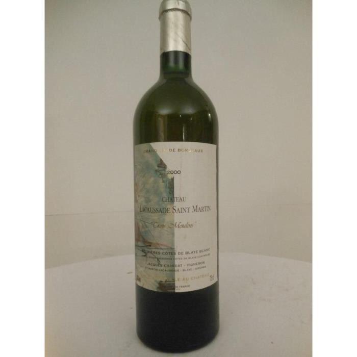 blaye château lacaussade-saint-martin blanc 2000 - bordeaux france