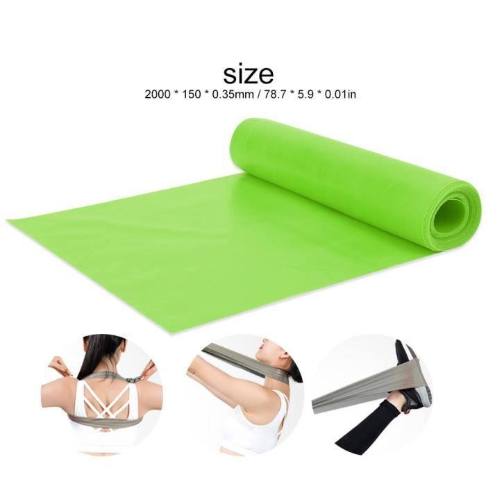 Atyhao bande élastique de yoga Bande de résistance de sangle élastique de yoga extensible de 2 m