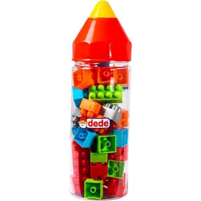 Dede Briques créatives enfant, Boîte Jeu de Construction, 42 pièces, jouet pour bébé enfants +4 ans