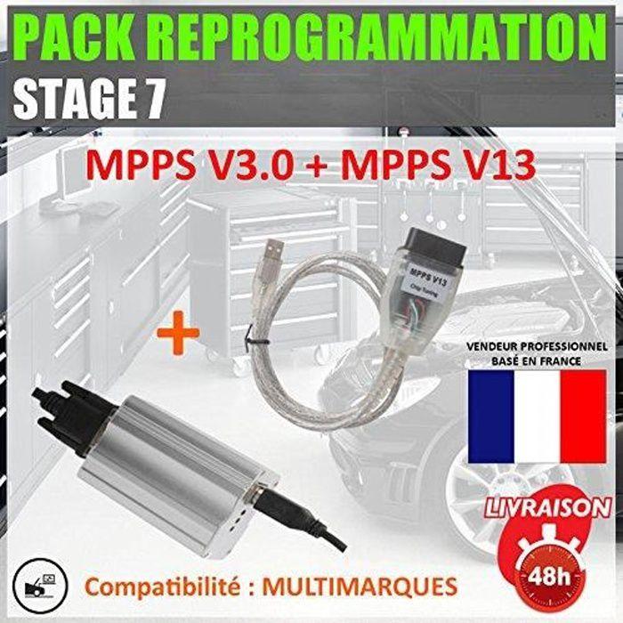 Mister Diagnostic® PACK REPROGRAMMATION : Outils reprogrammation MPPS V3.0 PRO + V13 + V16 fap egr