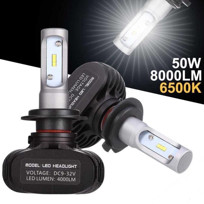 GOBRO 2pcs H7 50W LED phares Voiture Ampoules 8000lm Tout-en-un kit de conversion
