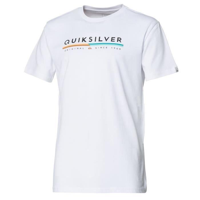 QUIKSILVER T-Shirt Retro Lines - Homme - Blanc
