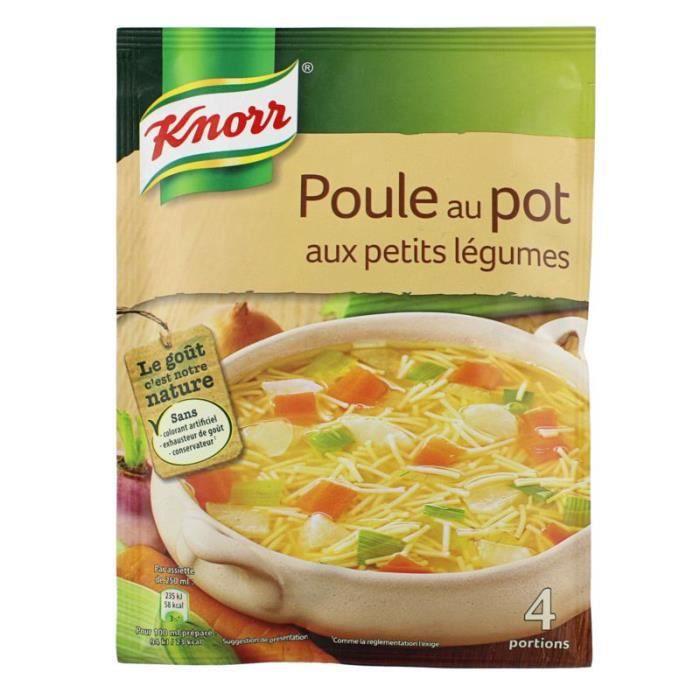 Knorr Soupe poule au pot aux petits légumes knorr 4 assiettes