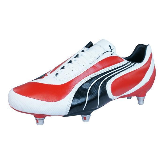 Puma V3.08 SG Hommes Bottes de football en cuir Rouge