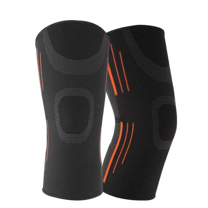PROTEGE-CHEVILLES - CHEVILLERE,1pc élastique sport genouillères respirant soutien genouillère en cours d'exécution - Type BK-M