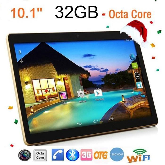 10,1 pouces Tablette Pc Ram 4G Rom 64G Android 6.0 noir Eu plug
