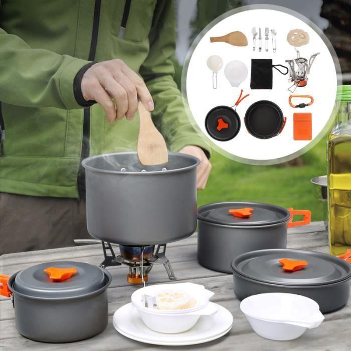 1 Ensemble d'Ustensiles de Cuisine de Camping popote - vaisselle - couverts camping - camp de base
