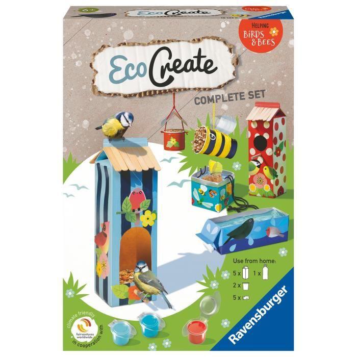 EcoCreate Midi - All for animals / Abris pour animaux - Ravensburger - Loisirs créatifs - Bricolage éco-responsable - Dès 6 ans