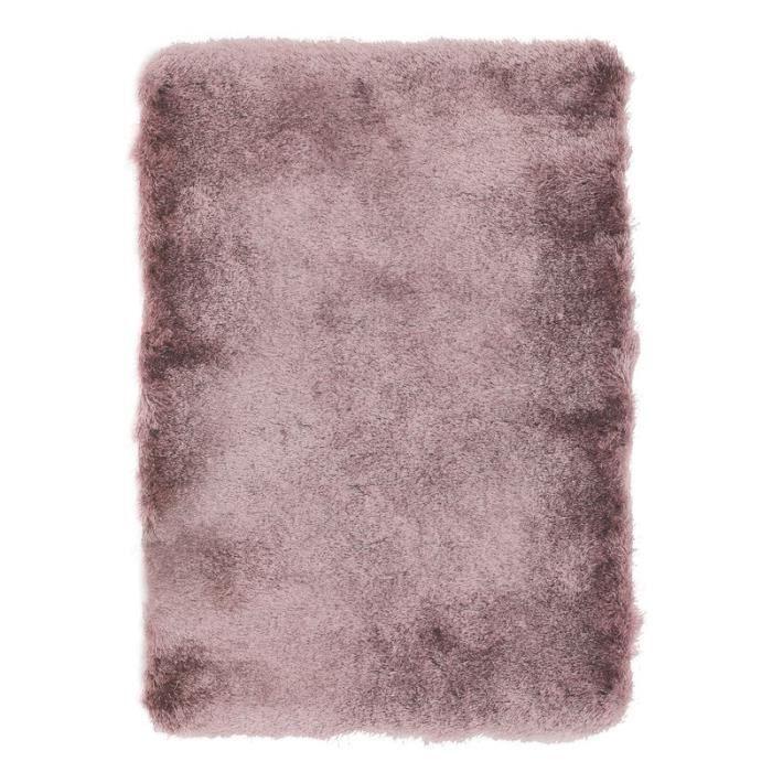 TOOSOFT - Tapis poils longs extra-doux rose poudré 120x170