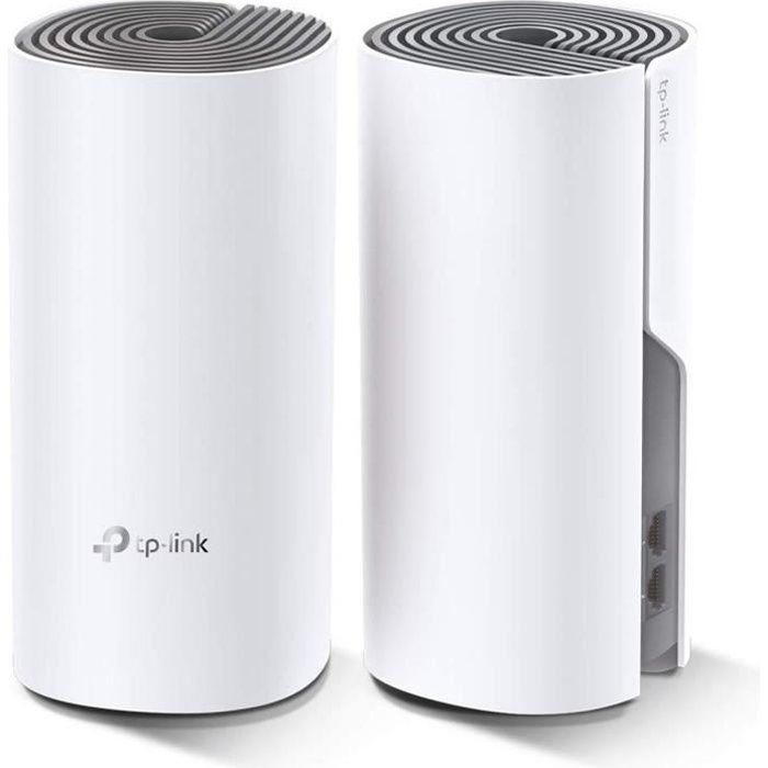TP-Link Deco E4(2-Pack) Systèmes Mesh WiFi - Couverture WiFi jusqu'à 260m2 - AC 1200 Mbps, Ports Ethernet