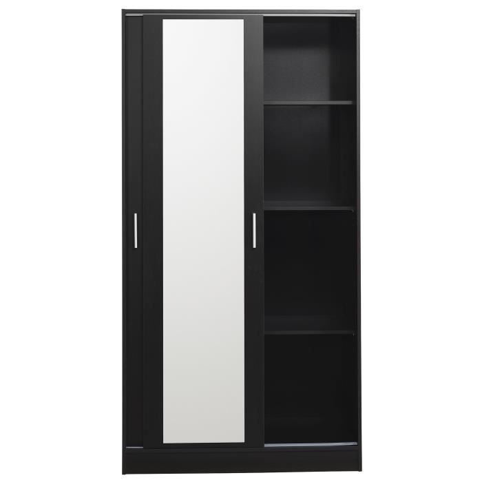 first armoire 2 portes coulissantes couleur caf achat vente armoire de c. Black Bedroom Furniture Sets. Home Design Ideas