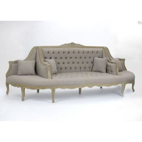 sofa shabby chic op ra capitonn taupe amadeus achat vente canap sofa divan cdiscount. Black Bedroom Furniture Sets. Home Design Ideas
