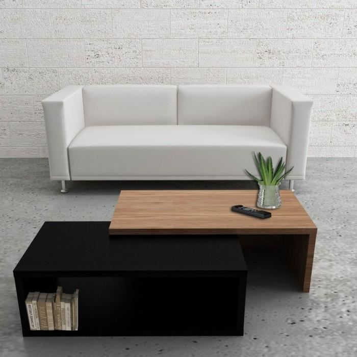 table basse ajustable party mati re bois coule achat vente table basse table basse. Black Bedroom Furniture Sets. Home Design Ideas