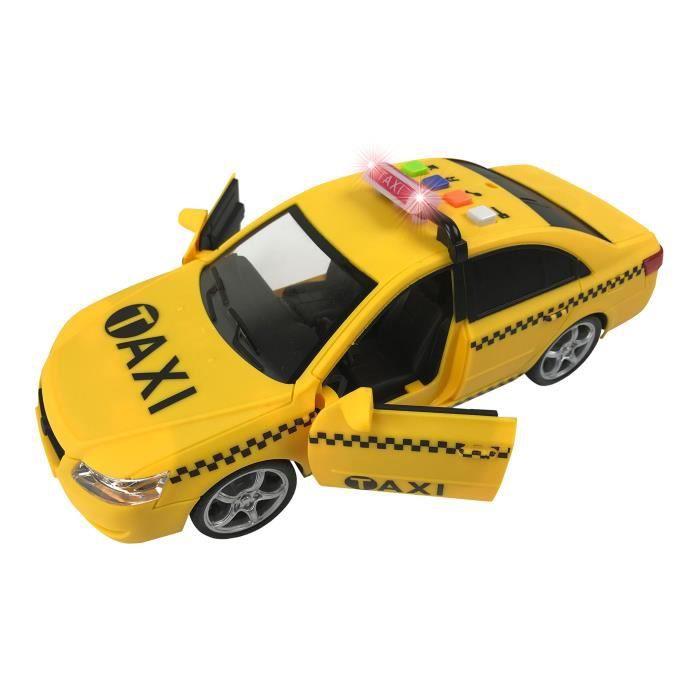 Voiture Electrique Taxi Jaune à Propulsion 1 16 Véhicule De Voiture De Jouet Avec Lumières Et Sons 10 Pouces Wdsbe Achat Vente Voiture Electrique Enfant Cdiscount